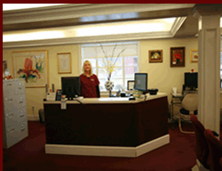 Front Desk and link to Office Staff